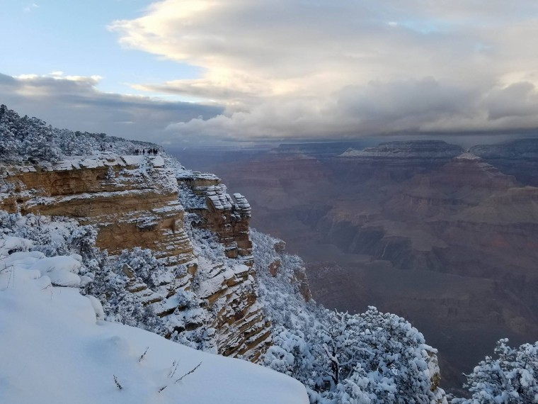 Photos taken at the Grand Canyon on Dec. 25, 2016.