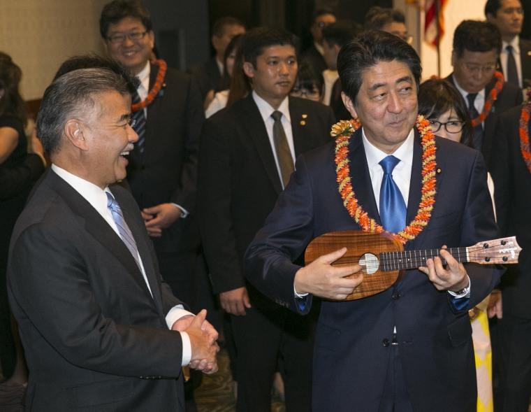 Image: Shinzo Abe, David Ige