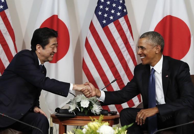 Image: Barack Obama, Shinzo Abe