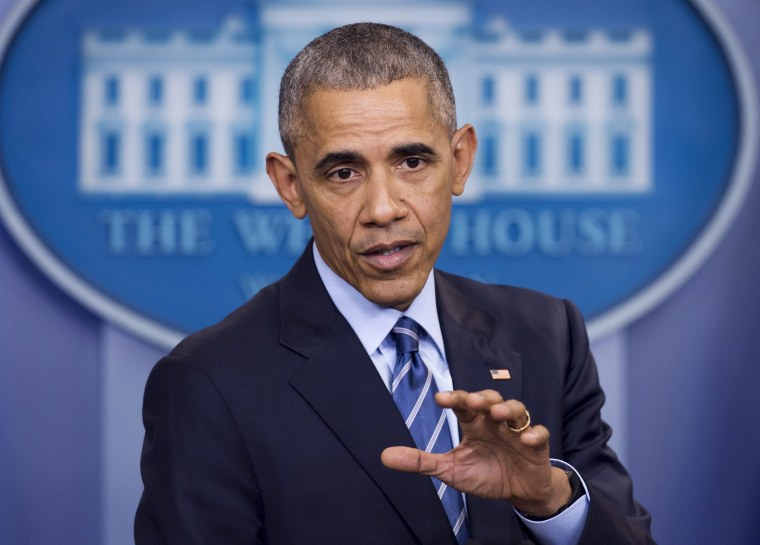 Image: Obama holds a year-end press conference in the Brady Press Briefing Room