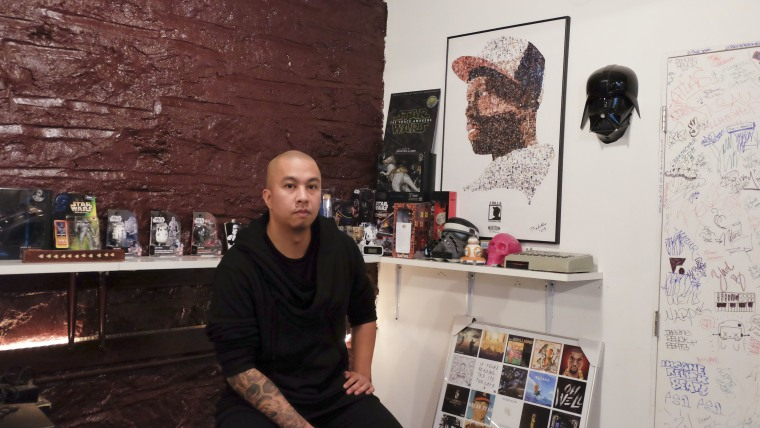 Ramon Ibanga Jr. -- better known as Illmind -- in his Brooklyn headquarters of his music label, Roseville Music Group.