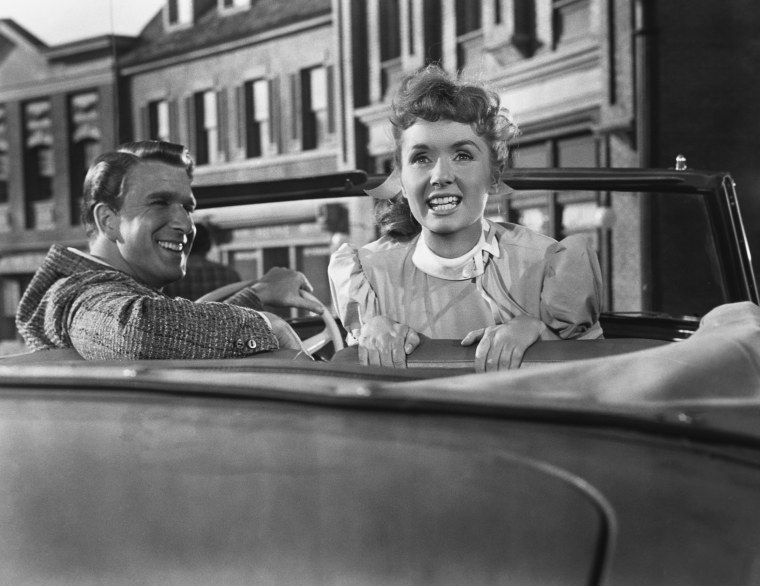 Leslie Nielsen and Debbie Reynolds in Tammy and the Bachelor