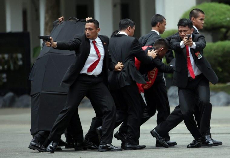 Image: Indonesia anti terrorist attack drill in Jakarta