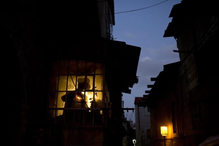 Image: Jewish holiday of Hanukkah in Jerusalem