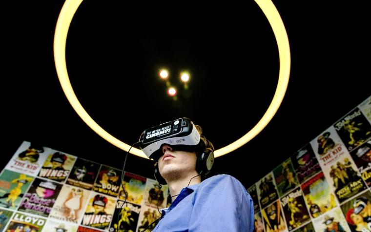 Image: FILES-NETHERLANDS-CINEMA-TECHNOLOGY-VR