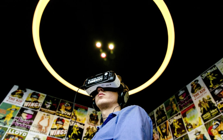 Image: FILES-NETHERLANDS-CINEMA-TECHNOLOGY-VR