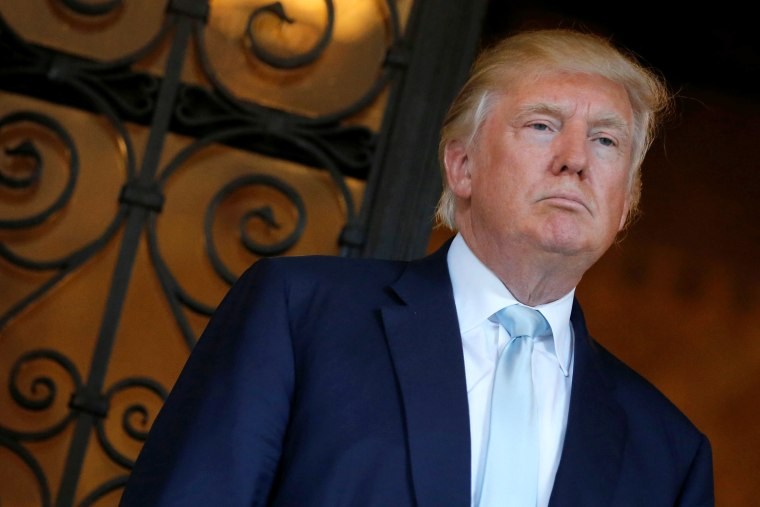 Image: U.S. President-elect Trump delivered brief remarks to reporters at the Mar-a-lago Club in Palm Beach, Florida
