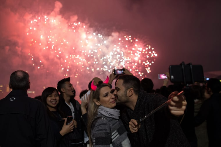 Image: New Year's Eve celebration in Hong Kong