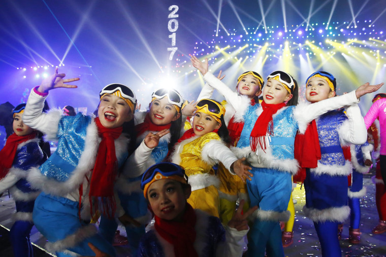 Image: New Year's Eve celebration in Beijing