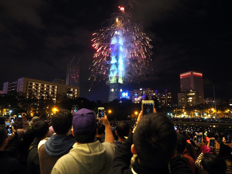 Image: New Year's Eve celebration in Taiwan