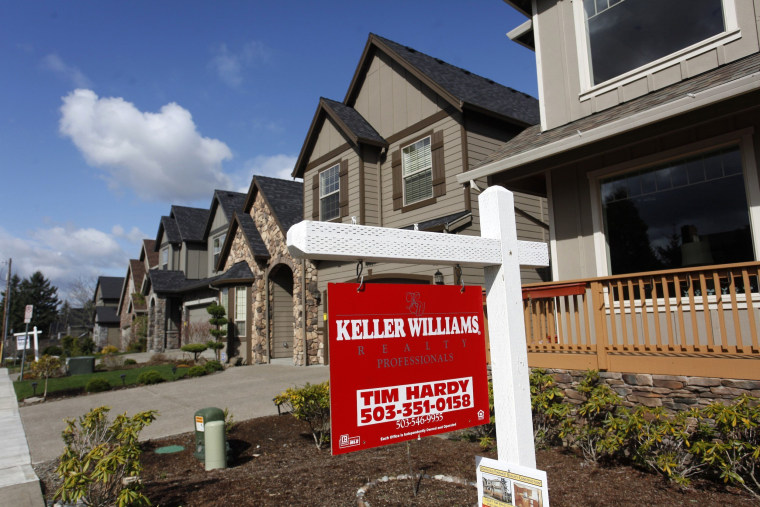 Image: Homes are seen for sale in the northwest area of Portland