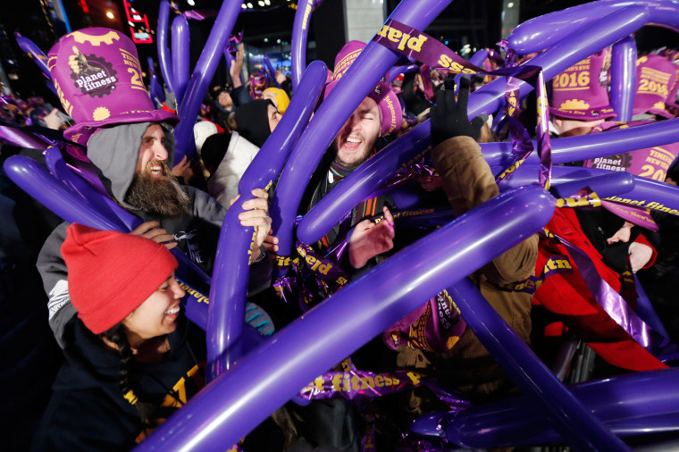 Image: Revelers await the arrival of the new year