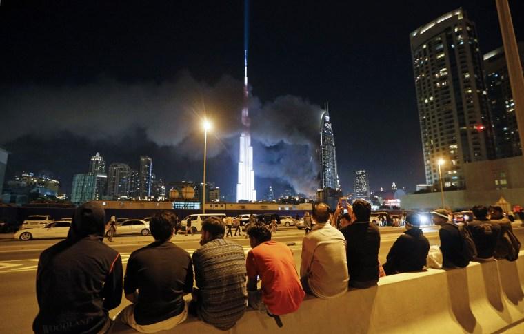 Image: UAE-DUBAI-FIRE