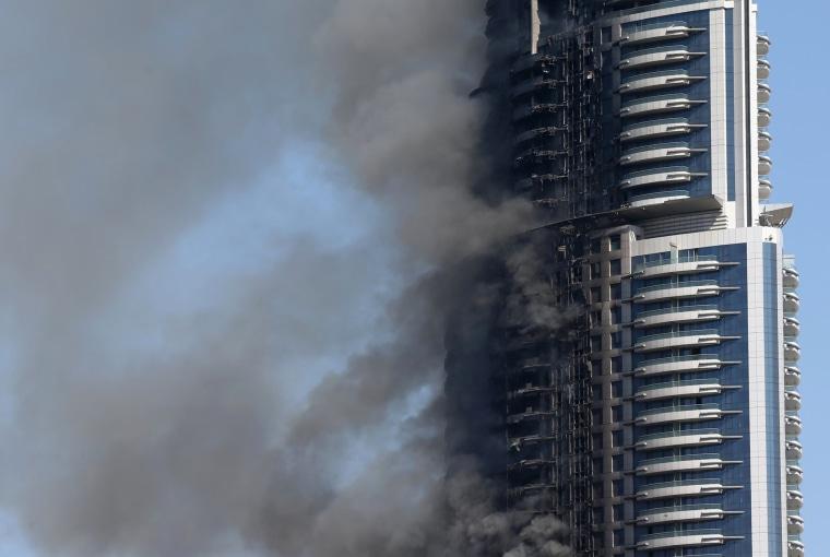 Image: TOPSHOT-UAE-DUBAI-NEW YEAR-FIRE