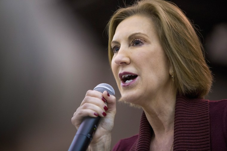 Image: GOP Presidential Candidates Ben Carson And Carly Fiorina Attend BBQ In Iowa