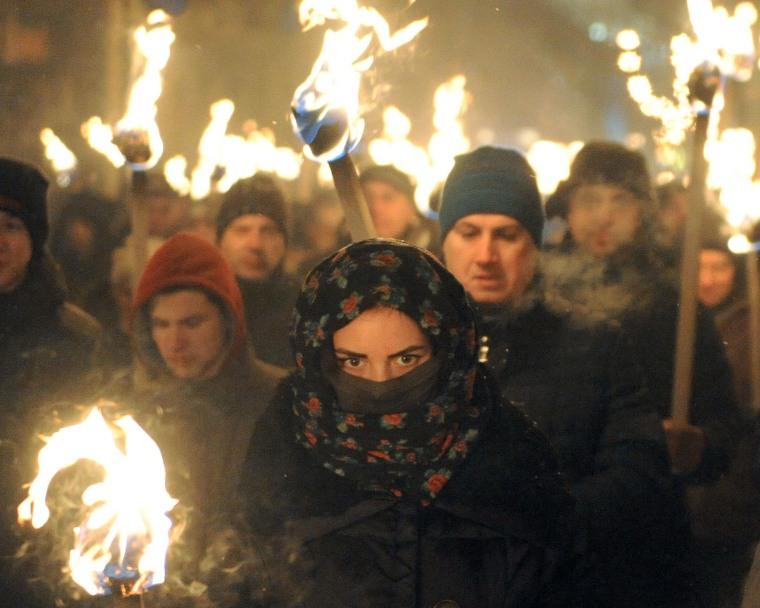 Image: UKRAINE-HISTORY-POLITICS-BANDERA-MARCH
