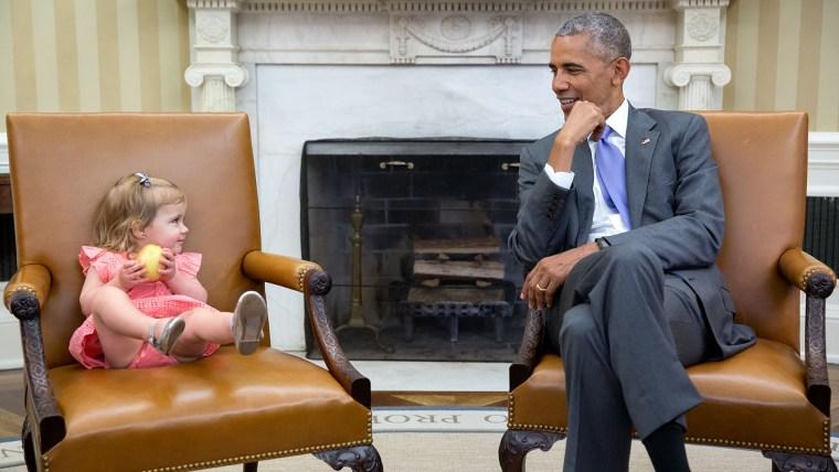 President Obama, little girl