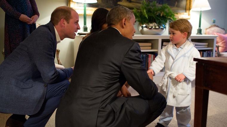 President Obama, Prince George