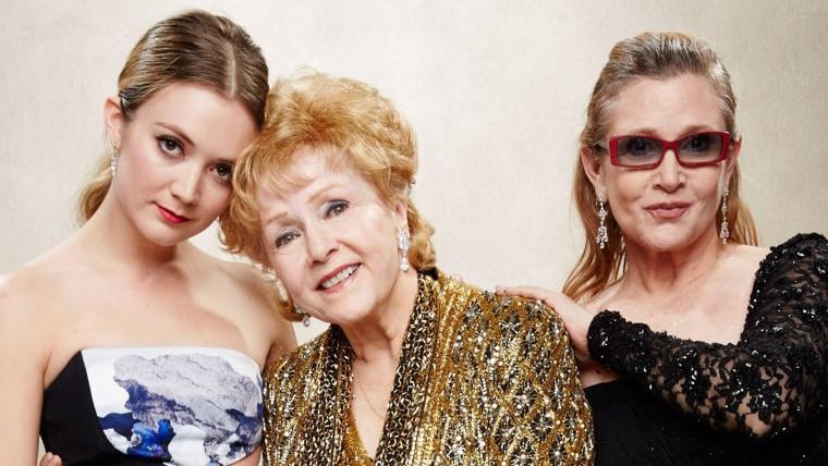 Billie Lourd, Carrie Fisher and Debbie Reynolds