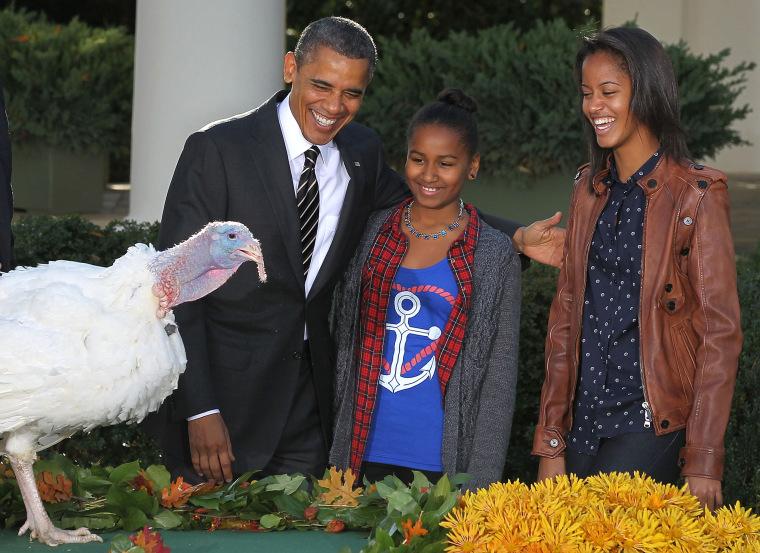 Image: President Obama Pardons Thanksgiving Turkey At White House