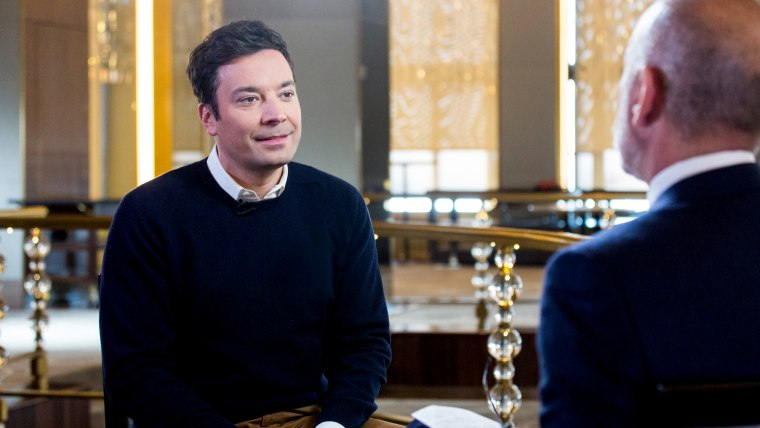 Matt Lauer interviews Jimmy Fallon in the days leading up to the 74th annual Golden Globe Awards ceremony