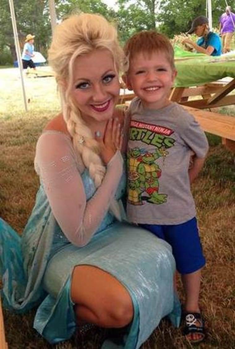 Kylee McGrane met 5-year-old Roman Statt, a leukemia survivor, at a pediatric cancer benefit in 2016.