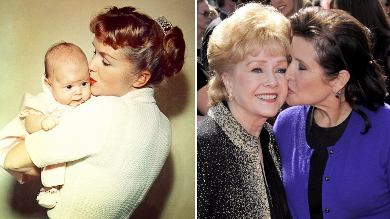 Carrie Fisher and Debbe Reynolds