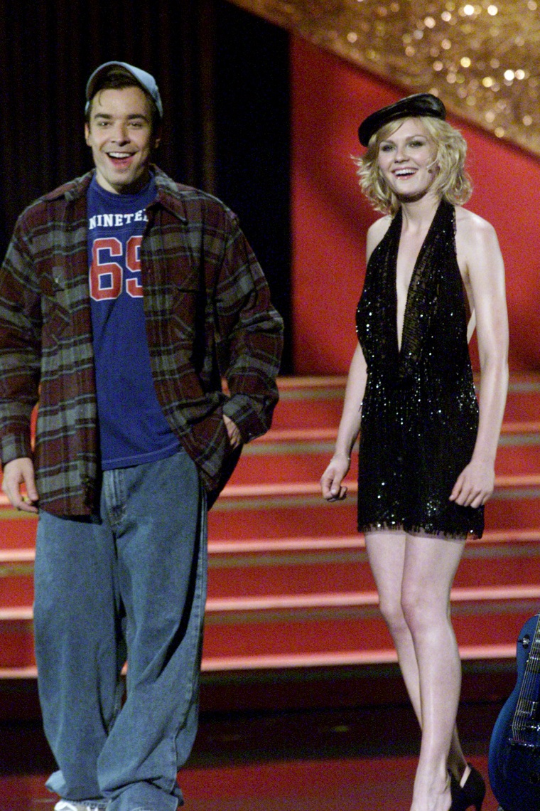 Kirsten Dunst, left, and Jimmy Fallon
