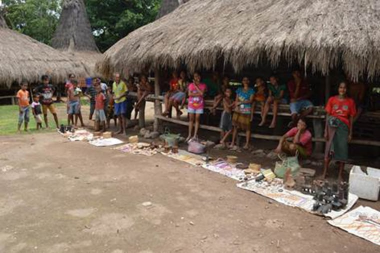 Villagers in Sumba.