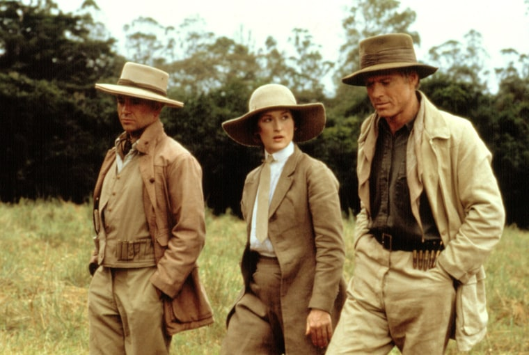 OUT OF AFRICA, Michael Kitchen,  Meryl Streep, Robert Redford, 1985. (c) MCA/Universal: Courtesy Eve