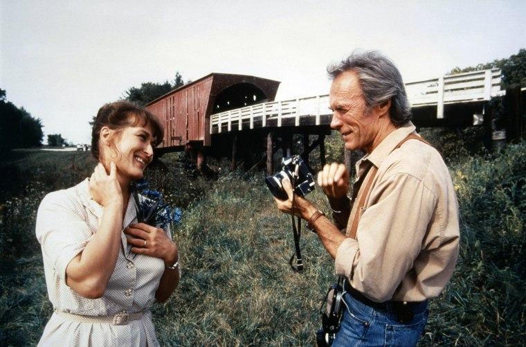 On the set of The Bridges of Madison County