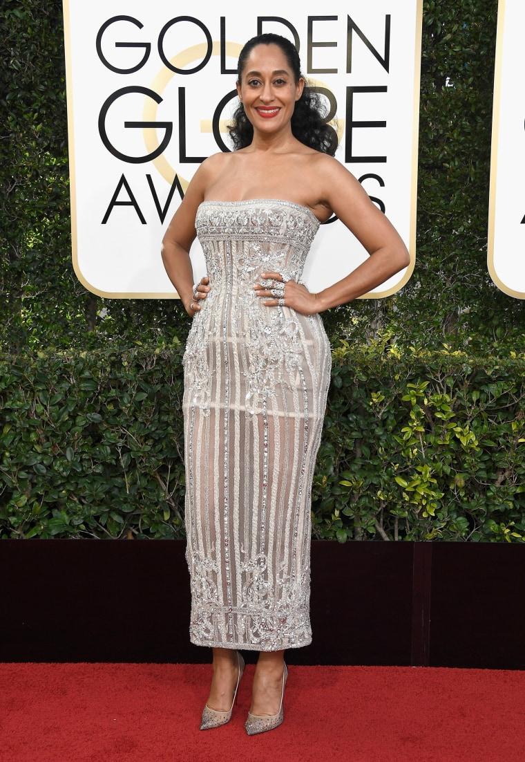 Tracee Ellis Ross Golden Globes red carpet