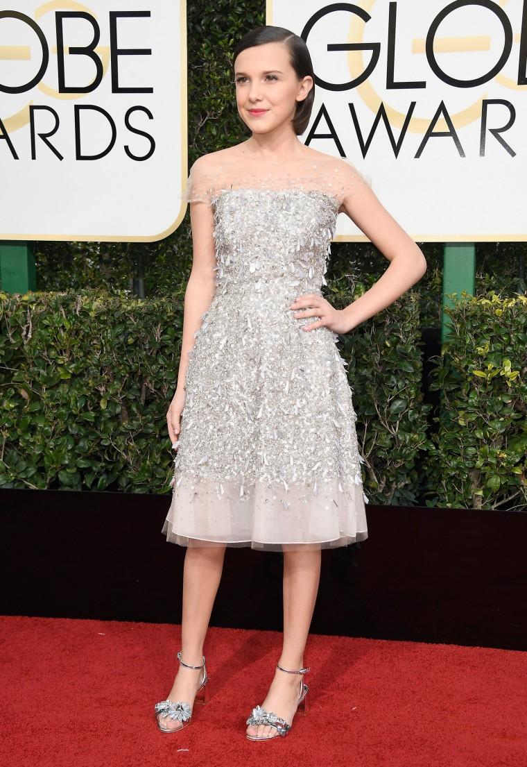 Millie Bobby Brown Golden Globes 2017