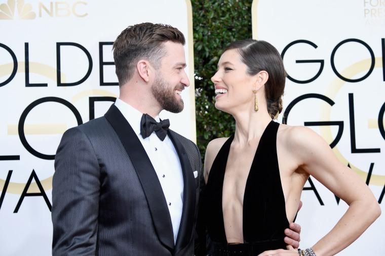 Justin Timberlake Jessica Biel Golden Globes 2017