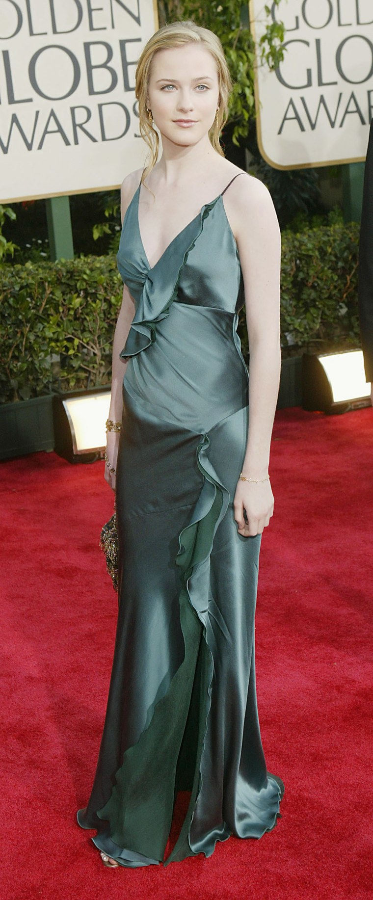 Actress Evan Rachel Wood attends the 61st Annual Golden Globe Awards at the Beverly Hilton Hotel on January 25, 2004 in Beverly Hills, California.