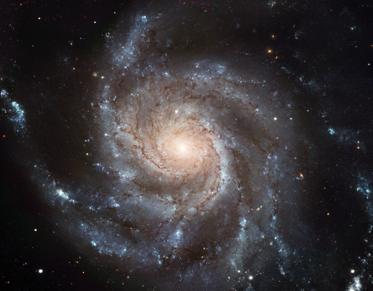 Studies of the motion of galaxies — like the so-called Pinwheel Galaxy, pictured here — suggest that they contain more dark matter than ordinary matter.  What this dark matter is made of remains a mystery.