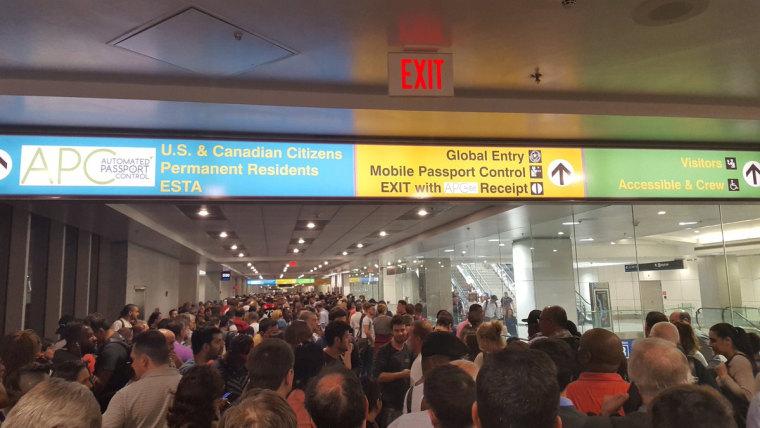 IMAGE: Miami International Airport customs line