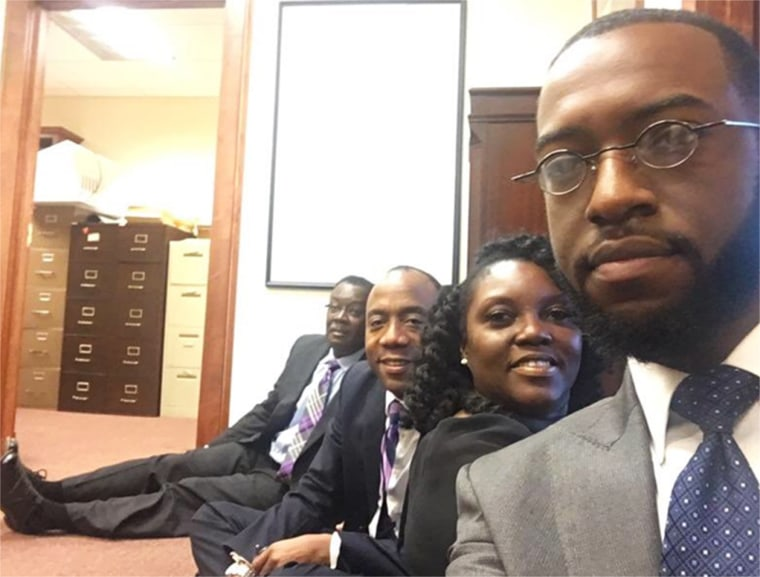 Image: A photo tweeted by the President and CEO of the NACCP of the sit-in in Mobile, Alabama
