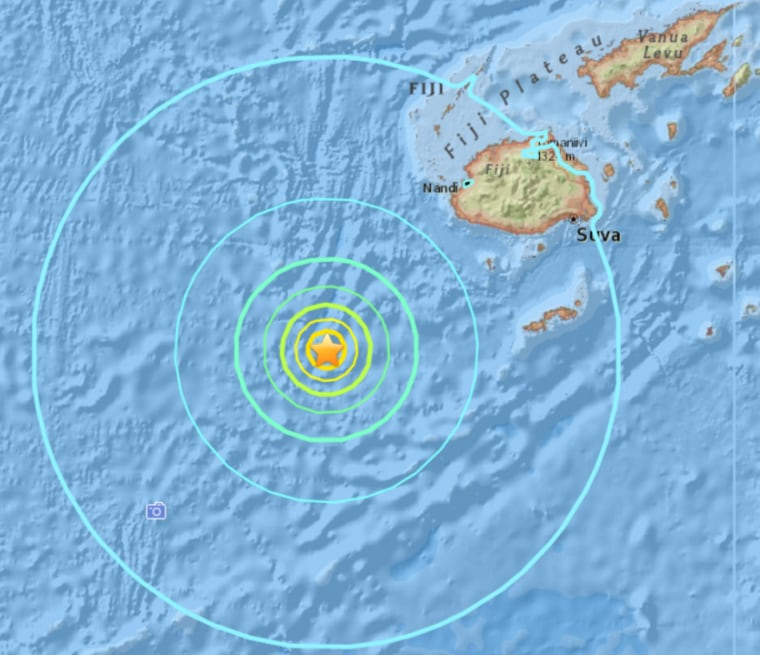 MAP: South Pacific earthquake