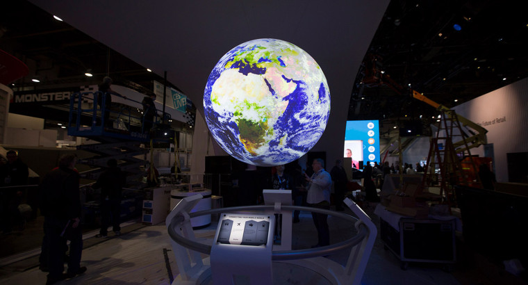 Image: An exhibit at the 2016 CES.