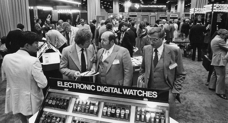 Image: Digital watches were an important part of technology and fashion in the 1980s.
