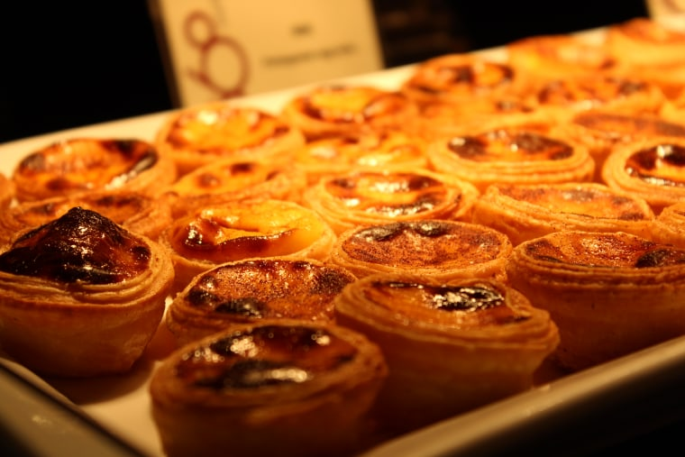 """Macao's iconic """"Portuguese egg tarts,"""" a variation on Chinese egg tarts"""
