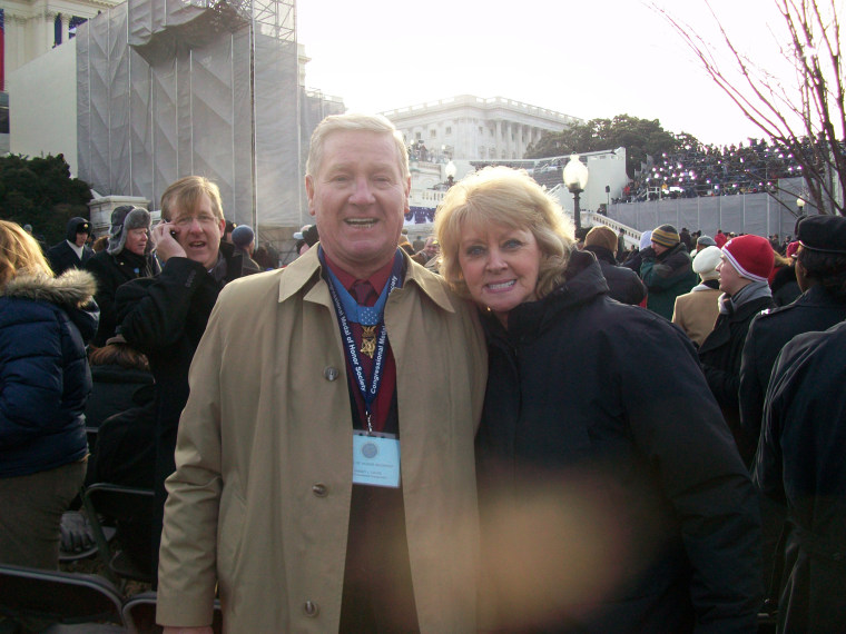 Vietnam veteran Sammy Lee Davis and wife Dixie Davis attend President Barack Obama's first inauguration on Jan. 20, 2009.