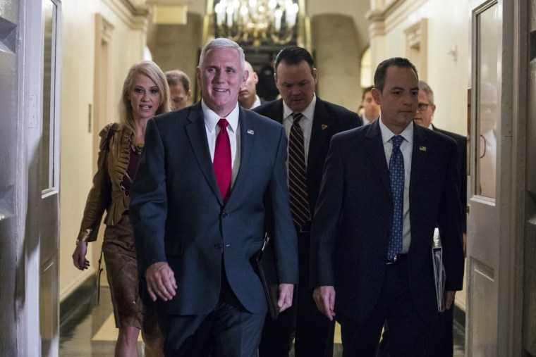 Image: Pence, Priebus Meet with Republicans  About Obamacare Repeal in US Capitol, Washington, USA - 04 Jan 2017