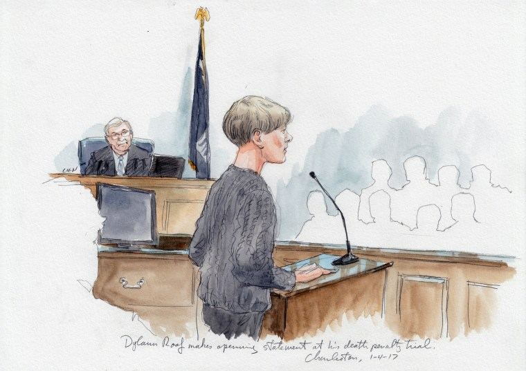Image: Dylann Roof delivers his own opening statement
