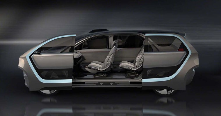 The Chrysler Portal's cabin features flexible seating on tracks that run the entire length of the interior.