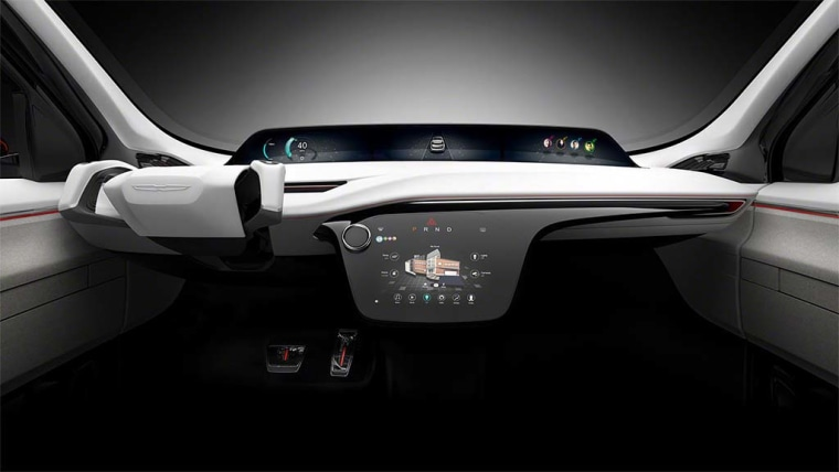 The Chrysler Portal has screens throughout the interior, up to 10 charging stations, and full autonomous driving capabilities.