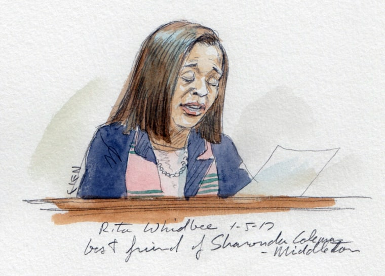 Image: Rita Whidbee, best friend of Sharonda Coleman-Middleton