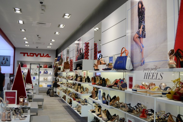 Puerto Rican shoe store Novus during the Holiday season in Pembroke Lakes Mall in Pembroke Pines, Florida.