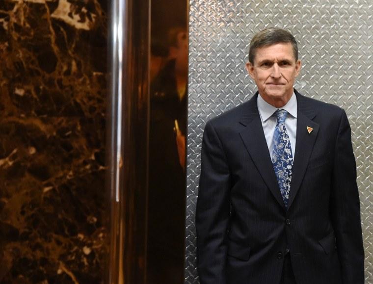 Image: Michael Flynn, national security adviser designate arrives at Trump Tower